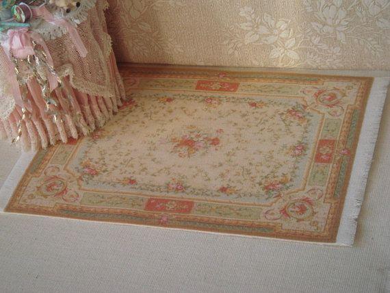 Dollhouse Aubusson rug. 1:12 Dollhouse by ANABELAMINIATURES