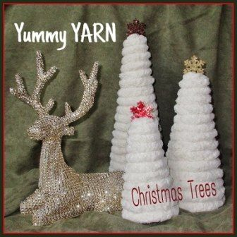 If you're obsessed with texture, you may want to make a cone Christmas tree with some really big - super chunky - yarn! When my eyes first fell upon this yummy…