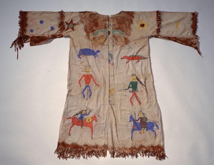 9. Dezember. Männerhemd. Nordamerika, Plains. Indianerstamm: wahrscheinlich Sioux. 19. Jh. C