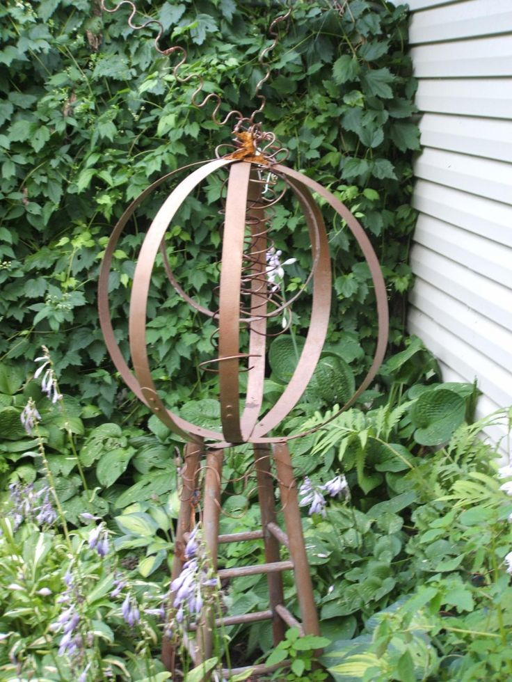10 images about recycled garden art and accessories on for Recycled garden art ideas