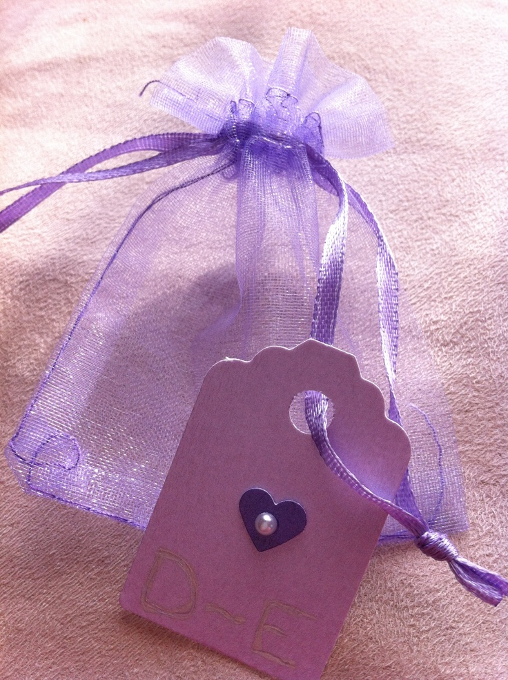 Personalised favour bags