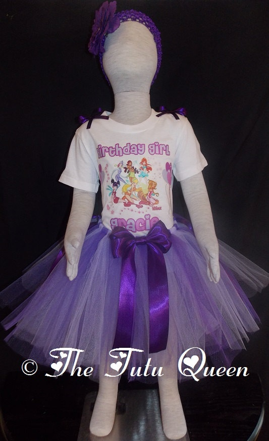 Winx Club Birthday Outfit  3 PIECE SET  Tutu by TheTutuQueenCom, $28.99