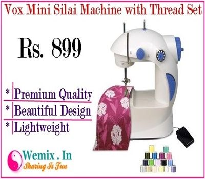 Vox Mini Silai Machine with Thread Set Rs 899