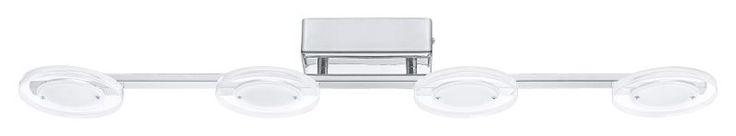 EGLO CARTAMA LED Deckenleuchte chrom, 4-flg. rund - Schlafzimmerbeleuchtung - Beleuchtung nach Raum