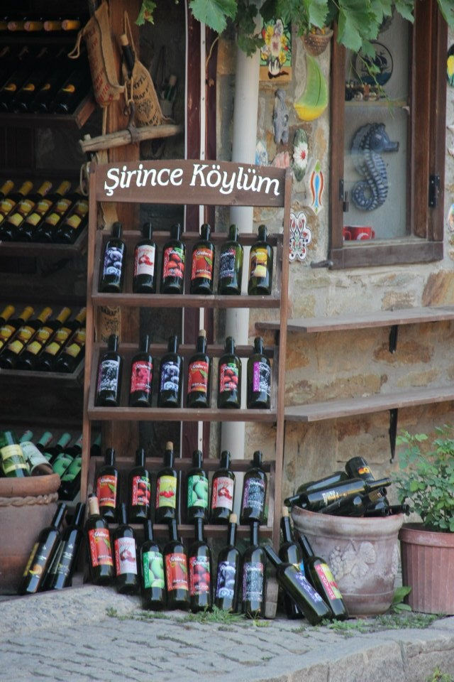 Homemade fruit wines at a wine shop in Sirince, Turkey | Turkey Vision