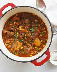 Slow Cooked Lamb Casserole - Slow cooked lamb casserole in a tomato based sauce. Leapingleigh