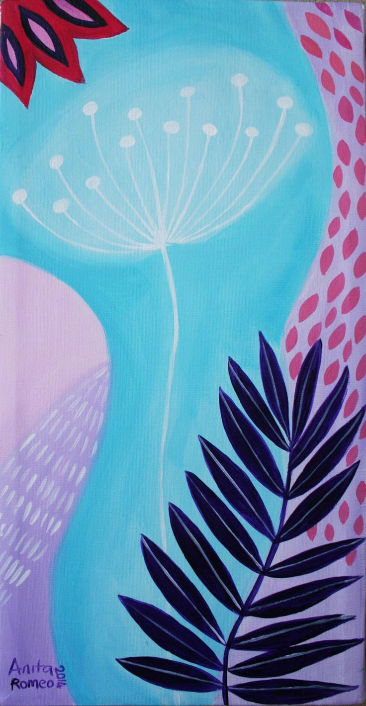 Winter Flowers, acrilic on canvas by Anita Romeo