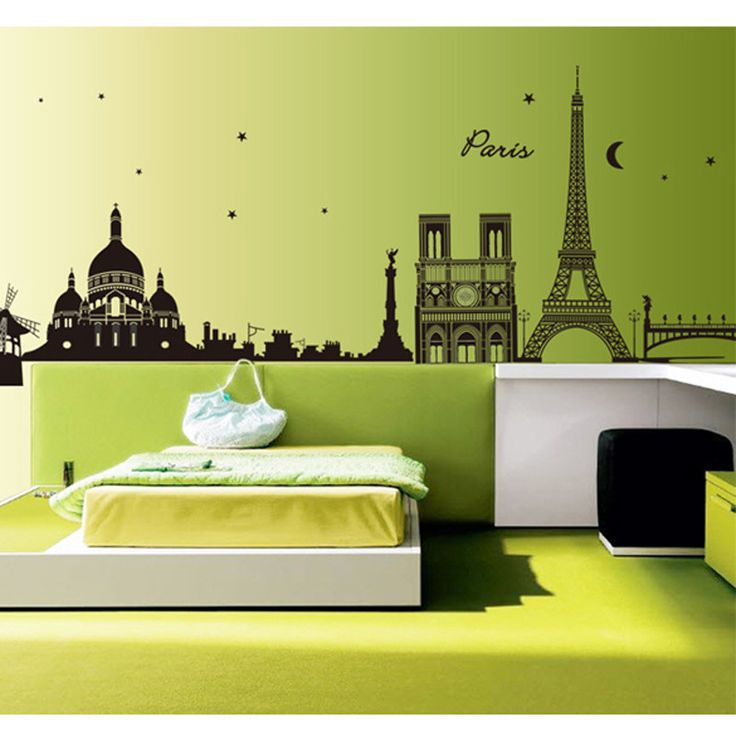 Paris Eiffel Tower Removable Wall Decal Room