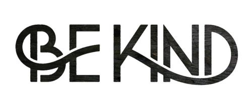 Be Kind type design