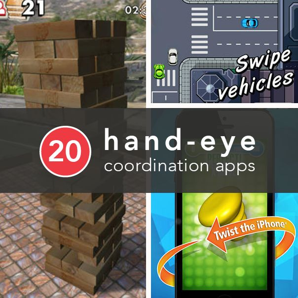 20 Apps that Improve Hand Eye Coordination - Check out these killer apps designed to improve reaction time, accuracy, and precision.
