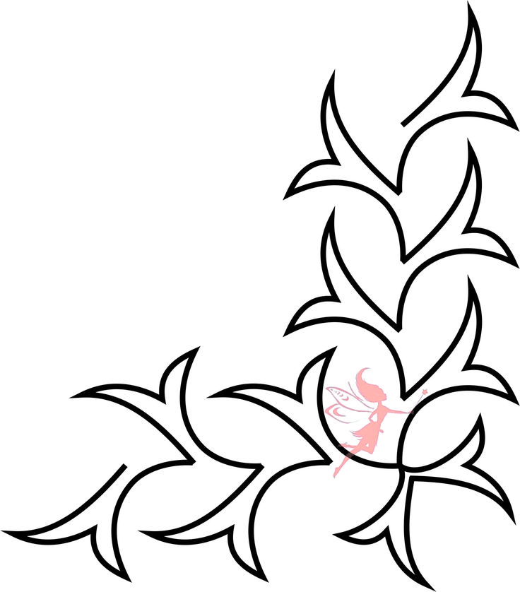 Quilt Border Stencil - Fairy Quilt #quiltstencil #fairyquilt #quilting #quiltingideas #borderstencil