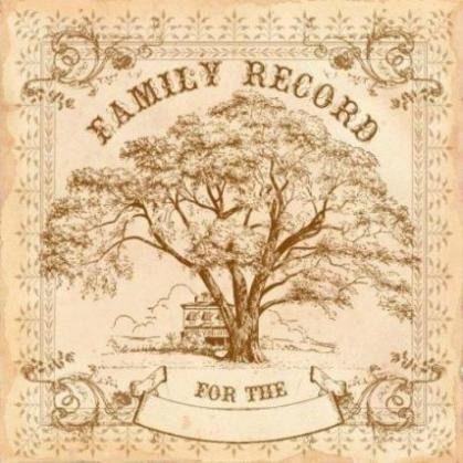 Family record album page