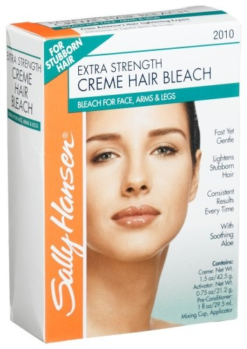 Sally Hansen Extra Strength Creme Hair Bleach For Face Arms Legs Package Pack Of Bleaching