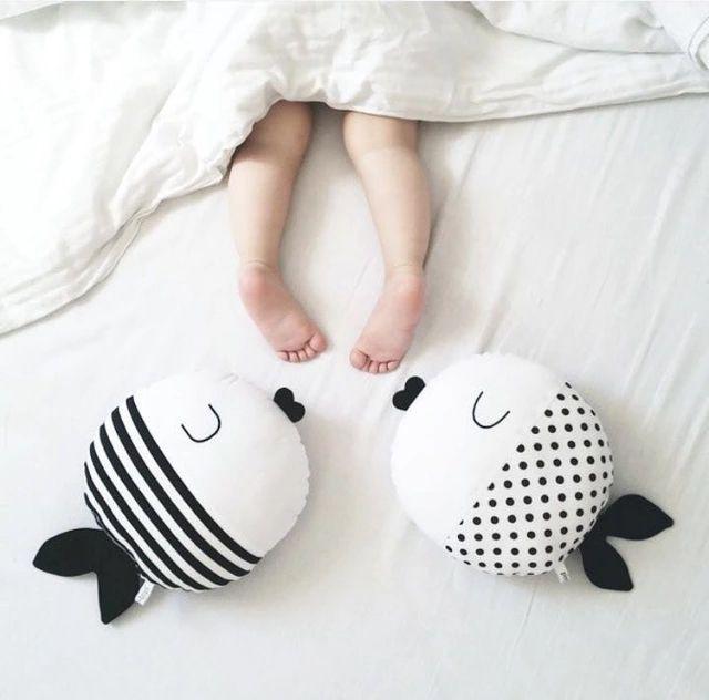 Симпатичные горошек и узоров рыбы подушки мягкие детские игрушки диван украшения подарок украшение дома