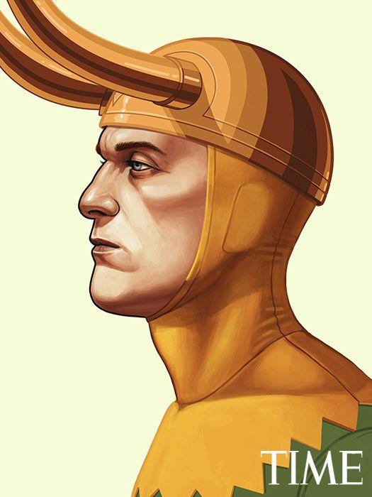 Os quadrinhos e a arte - retratos dos heróis da Marvel de perfil :-D