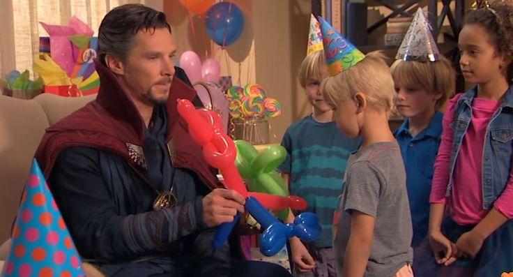 ¡Chequea el divertido #vídeo donde #DoctorStrange trabaja como entretenimiento en fiesta de cumpleaños infantil!