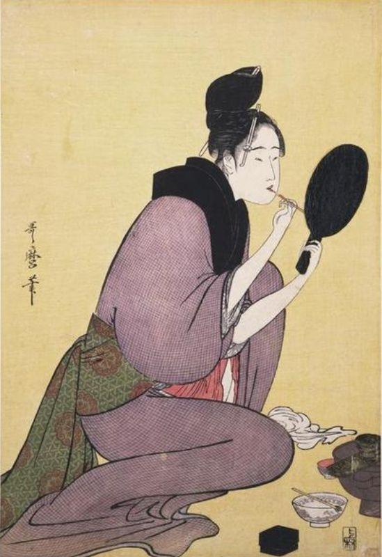 Painting Her Lips by Utamaro (mid-1790s)