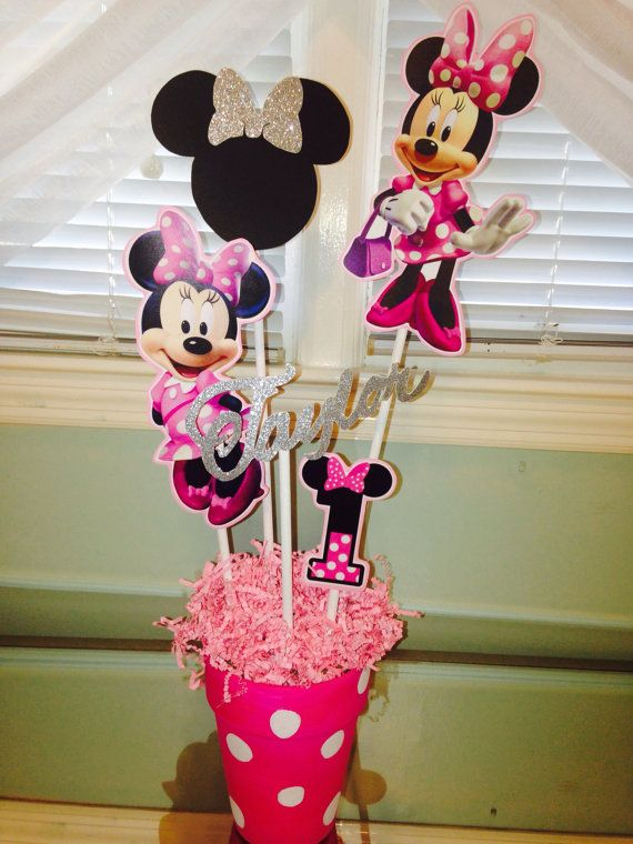 Minnie Mouse Birthday Centerpiece Custom by PartiesThatArePretty
