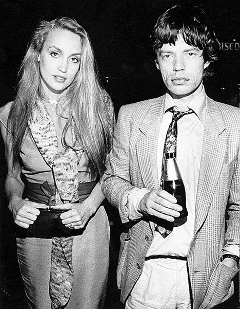 Beauty Legend: Jerry Hall and Mick Jagger.  She is as much rock and roll as he is!