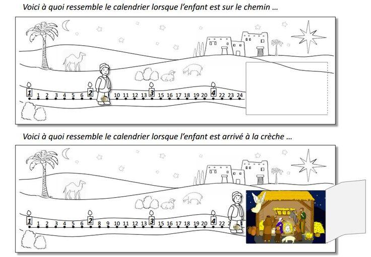 """Calendrier de l'Avent sur le thème d'un petit berger ou d'une petit bergère en marche vers la crèche.  Le modèle et les explications sont disponibles dans Cap P'tit Vent n°6 """"C'est dans longtemps Noël ?"""", le journal pour l'éveil à la foi édité par le diocèse de Lyon, téléchargeable gratuitement ici : http://initiationchretienne-lyon.cef.fr/cap-p-tit-vent.html"""