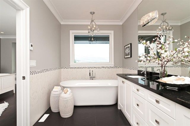 Bedroom Bath Idea Soft Grey Walls With Benjamin Moore