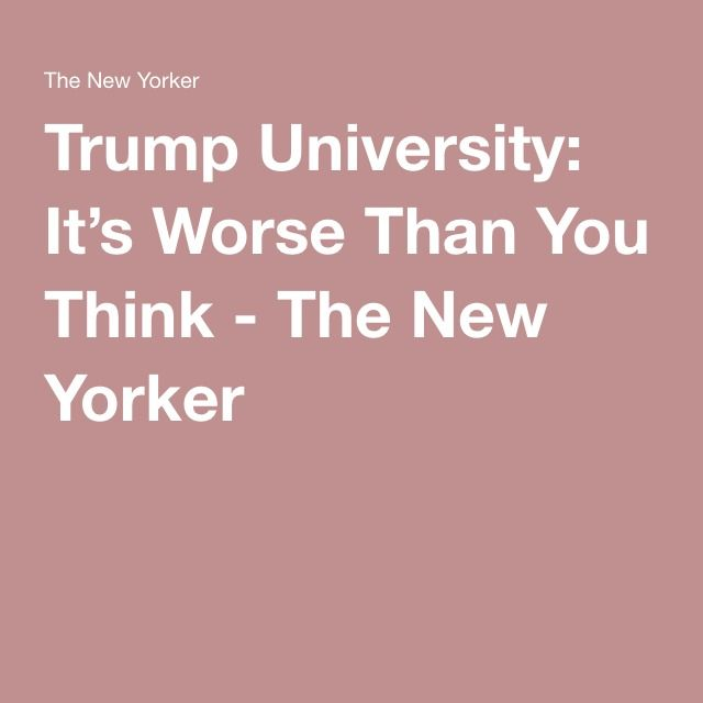 Thieving Trump stealing from Students... Who's Next America!! Trump University: It's Worse Than You Think - The New York