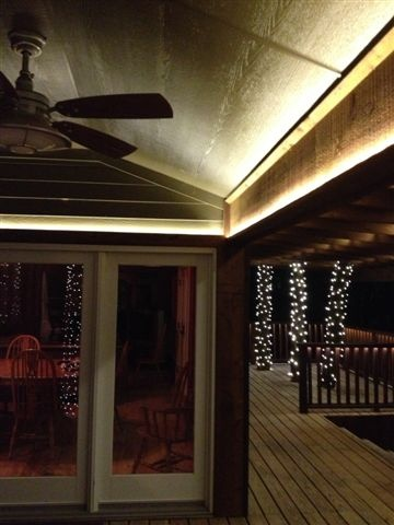 Want outdoor led lighting on your porch call tlc electrical in southlake tx