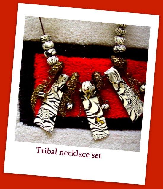 Sculpted Zebra stripe Tribal Jewellery Ethnic by MyAustralia, $28.00