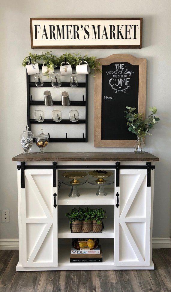 Kleiner Tassenständer. Holz Wandregal, Coffee Bar Organizer, Holz Küche Organizer …   – Kuchen