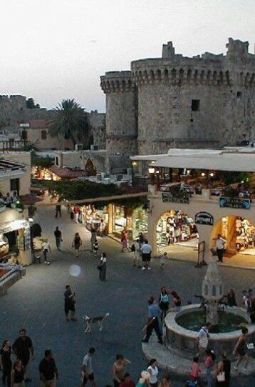 The old town of Rhodes, on Rhodes island, Greece. Went here for my honeymoon. Sweet memories...