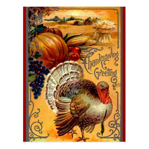 172 best thanksgiving postcards images on pinterest greeting card vintage thanksgiving turkey postcard greeting m4hsunfo