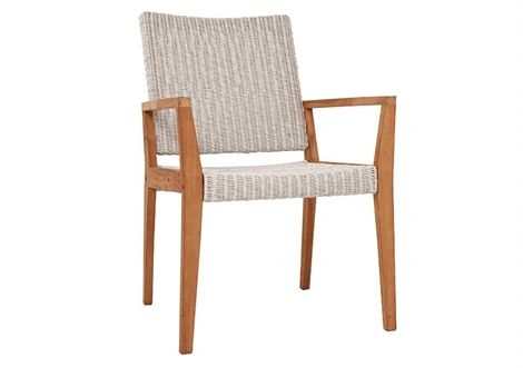 Winton Wicker Chair Teak/Fantasy White