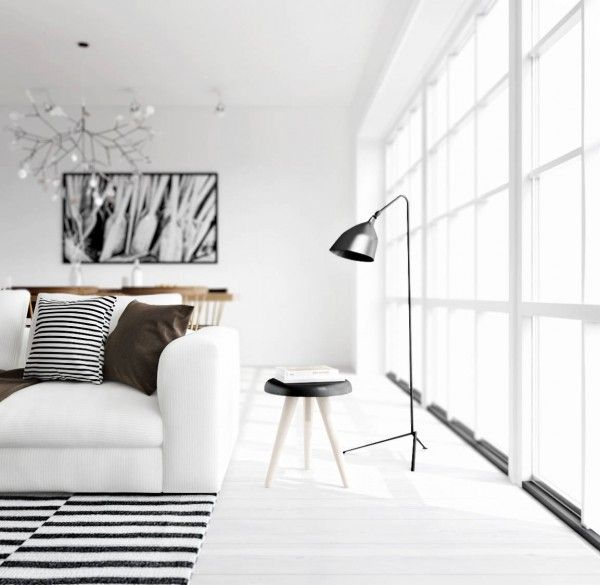 ATDesign- monochrome living nordic style - beautiful provided you don't have toddlers :-)