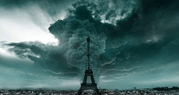 Storm cell over Paris