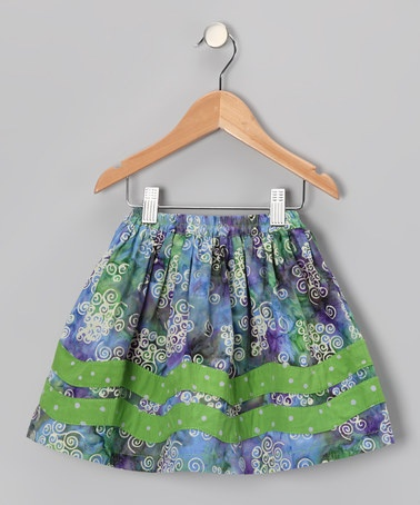 Take a look at this Grape Juice Rickrack Skirt - Toddler & Girls by Young Colors on #zulily today!