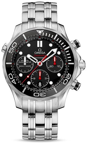 212.30.42.50.01.001 NEW OMEGA SEAMASTER DIVER 300M CO-AXIAL CHRONOGRAPH MENS LUXURY WATCH IN STOCK - FREE Overnight Shipping | Lowest Price Guaranteed - NO SALES TAX (Outside California)- WITH MANUFACTURER SERIAL NUMBERS- Black Dial - Black Ceramic Bezel- Chronograph Feature - Self Winding Automatic Chronometer Movement - Column-Wheel Mechanism