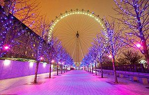 de london eye tijdens de kerst een prachtig uitzicht