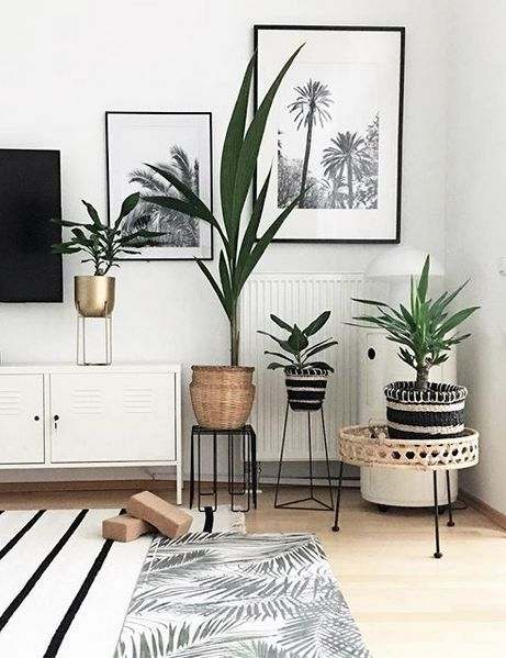 Palm trees wall decoration Inspiration #Living #Inspiration #Botanical #GreenLiving #Urbanjungle