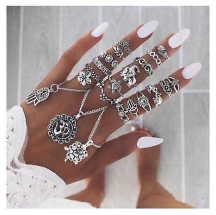 33+ Ideen nageln ovale Designjuwelen für 2019 – nails †