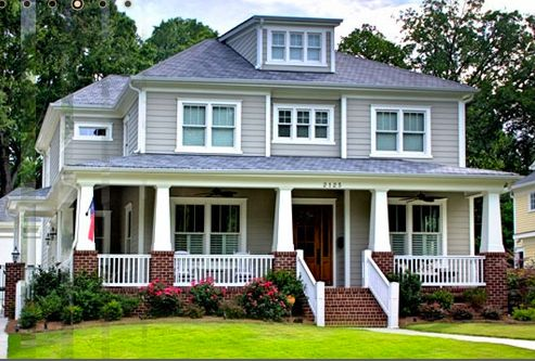 28 best images about fabulous home ideas exterior on for Craftsman wrap around porch