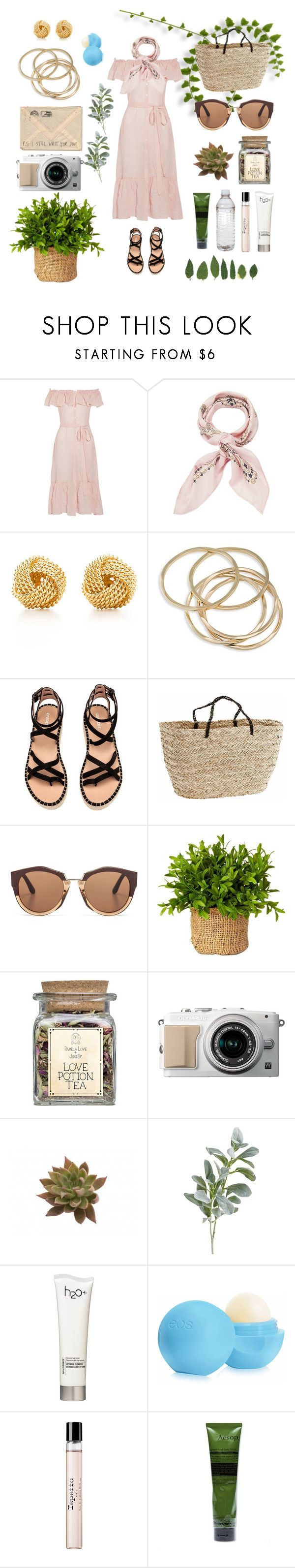 """""""Día de campo 👩🏽🌾"""" by lissavasquez16 ❤ liked on Polyvore featuring Lisa Marie Fernandez, Manipuri, Tiffany & Co., ABS by Allen Schwartz, Marni, Pier 1 Imports, H2O+, Eos, Repetto and Aesop"""