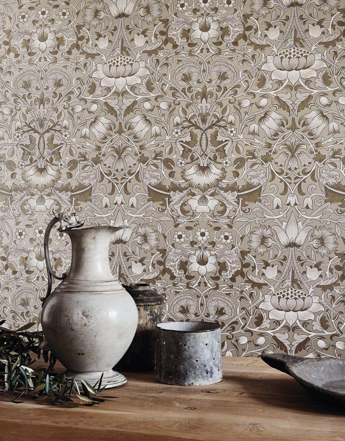 Коллекция Pure, принт Pure Lodden Обои воплощают в себе мастерство их создателей, идеально подходят для создания комнат с чистыми и ясными линиями #morris #дизайнинтерьера #интерьеридизайн #яркийинтерьер