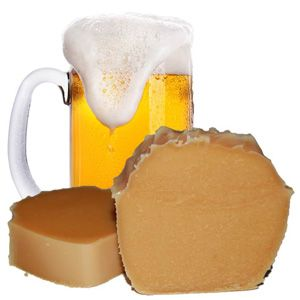 Using beer in your cold process soap recipe results not only in a beer soap with a rich, creamy lather but also a soap bar that gets some attention. Beer is