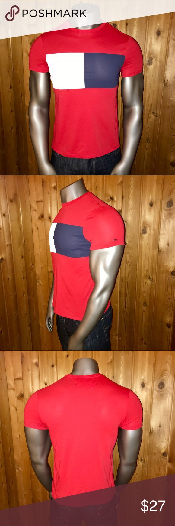 NWT! Tommy Hilfiger Classic Logo Men's T-Shirt Brand New With Tags!  Size: U.S. Men's Small Color: Red/White/Navy Blue  Tommy Hilfiger Big Bold Classic Flag Logo Fall 2017 Collection Regular Fit Made in Vietnam  T-Shirt comes from a smoke and pet free home  Thanks for looking! Tommy Hilfiger Shirts Tees - Short Sleeve