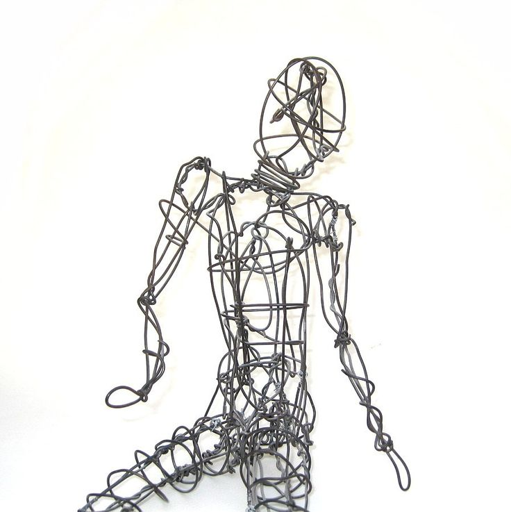 18 best Wire Sculptures of the Human Form images on Pinterest | Wire ...