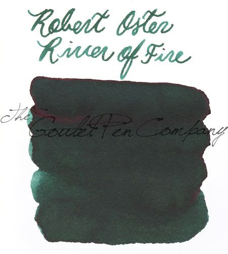 A 2ml sample of Robert Oster River of Fire fountain pen ink, in a labeled plastic vial. <br><br> <b>Coming in June! Sign up below to be notified via email as soon as it arrives.</b>