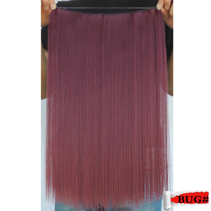 mega hair extensions aplique de cabelo sintetico fiber false shinion secret synthetic red 20 inch 50g wine crazy color bug