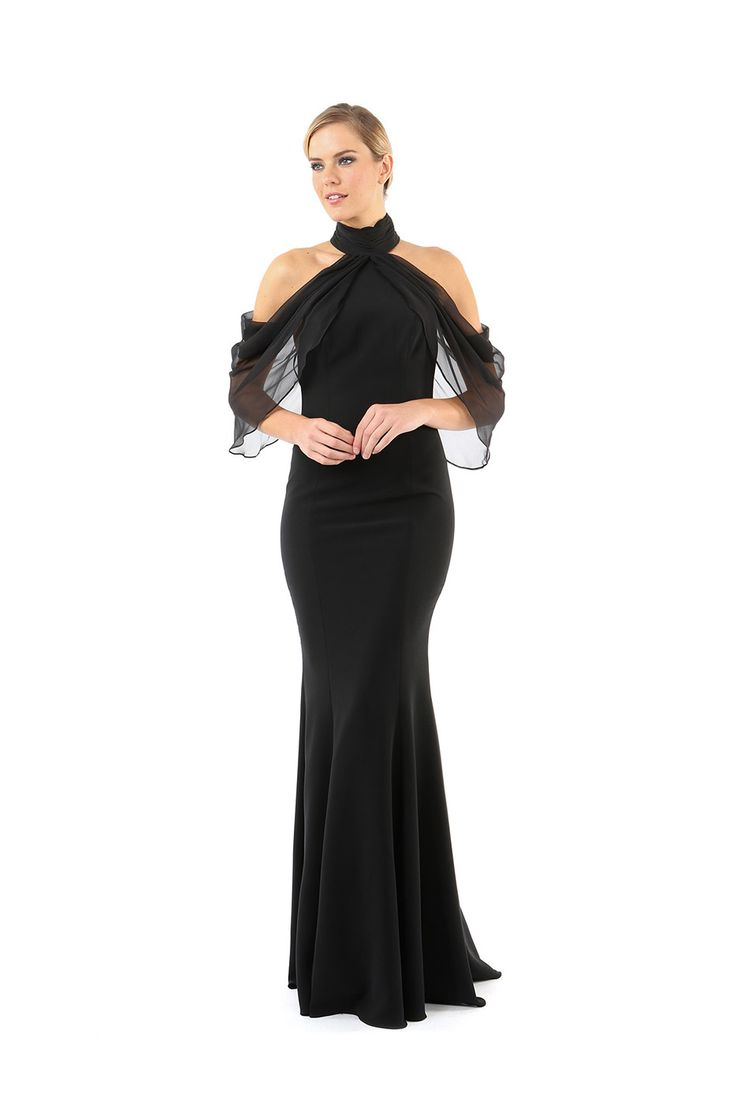 ELIZABETH DRAPED COLD SHOULDER GOWN from Jay Godfrey