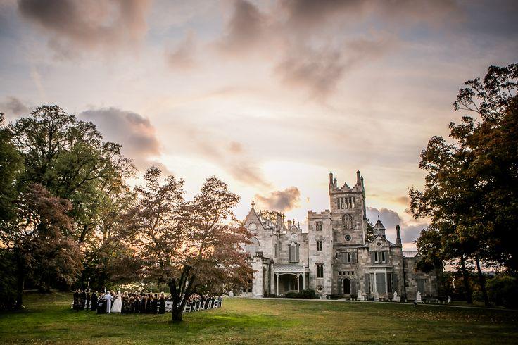 Beautiful scenic wedding at Lyndhurst Castle.