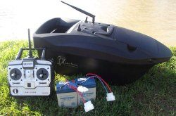 Lake Reaper Bait Boat. My Rating 88 out of 100. Dimensions: (L x W x H) 59cm, 29cm, 22cm. Range (metres): 300+ Battery life: 2 hours approx. Bait capacity:  1kg approx. Powered: Propellers. Unique feature: Boat has 2.4Ghz radio system which gives the boat proportional speed control with no interference from other anglers.  http://bestbaitforcarpfishing.com/bait-boat-reviews